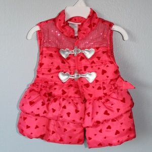 Other - Pink Hearts Puffer Vest 2T